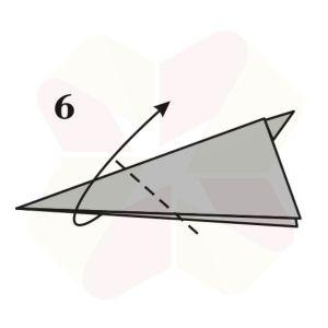 Conejo de Origami - Paso 6