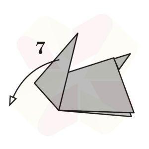 Conejo de Origami - Paso 7