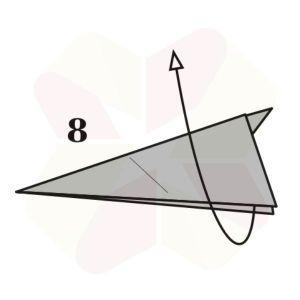 Conejo de Origami - Paso 8