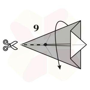 Conejo de Origami - Paso 9