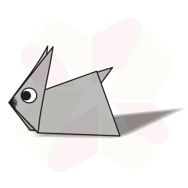 Conejo de Origami - Terminado