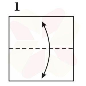 Gorrión de Origami - Paso 1