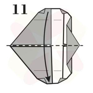 Gorrión de Origami - Paso 11