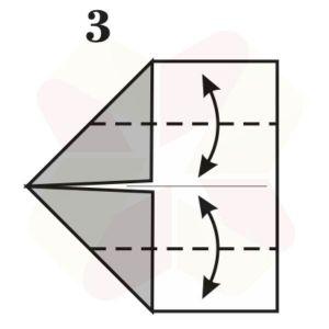 Gorrión de Origami - Paso 3