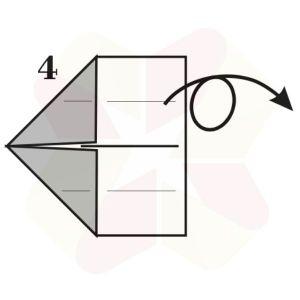 Gorrión de Origami - Paso 4