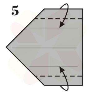 Gorrión de Origami - Paso 5
