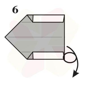 Gorrión de Origami - Paso 6