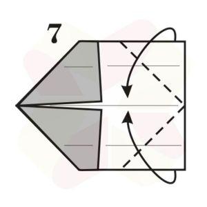 Gorrión de Origami - Paso 7