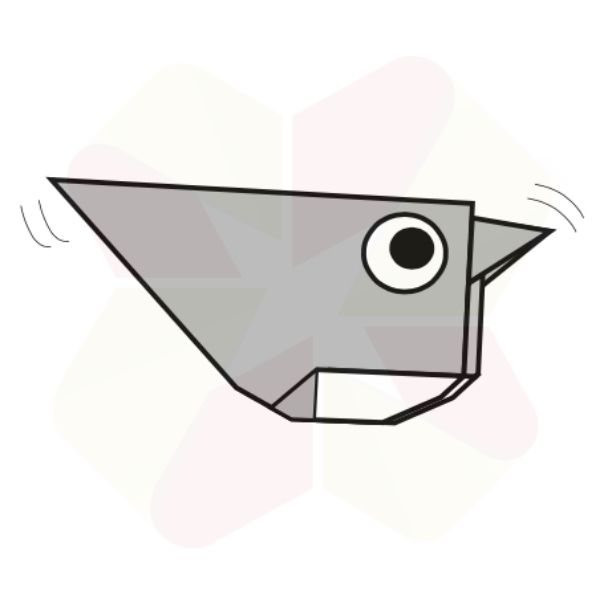 Gorrión de Origami - Terminado