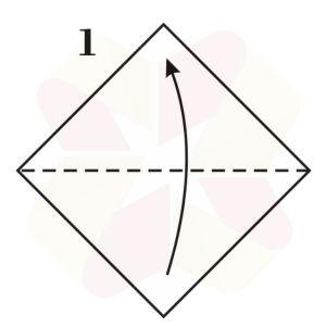 Mariposa de Origami - Paso 1