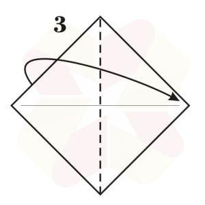 Mariposa de Origami - Paso 3