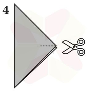 Mariposa de Origami - Paso 4