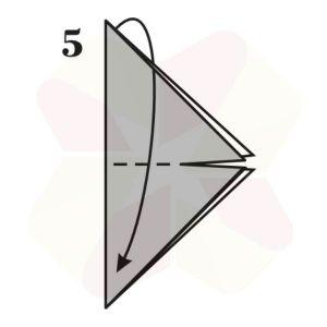 Mariposa de Origami - Paso 5