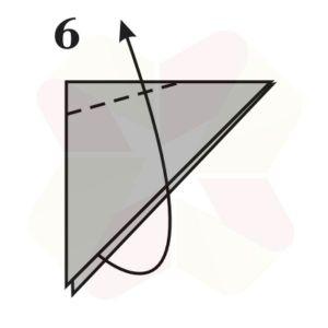 Mariposa de Origami - Paso 6