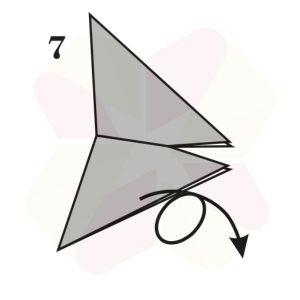 Mariposa de Origami - Paso 7