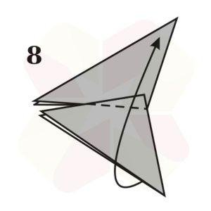 Mariposa de Origami - Paso 8