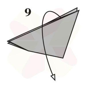 Mariposa de Origami - Paso 9