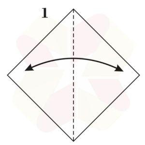 Pato de Origami - Pasos 1