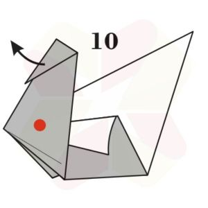 Pato de Origami - Pasos 10
