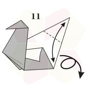 Pato de Origami - Pasos 11