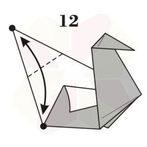 Pato de Origami - Pasos 12