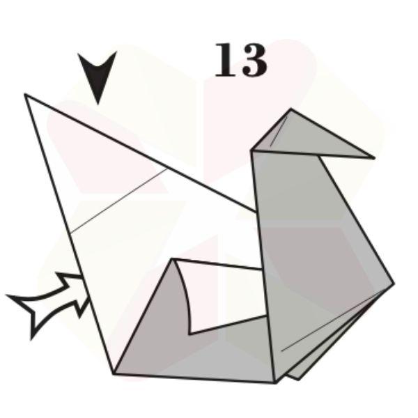 Pato de Origami - Pasos 13