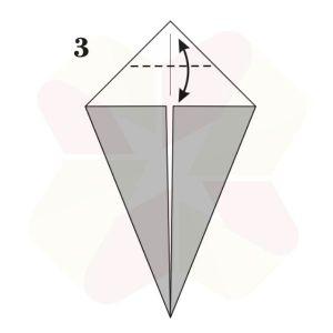 Pato de Origami - Pasos 3