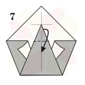 Pato de Origami - Pasos 7