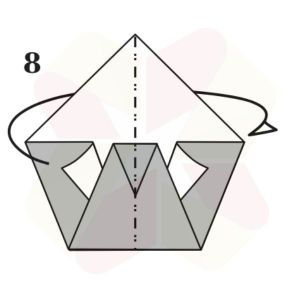 Pato de Origami - Pasos 8