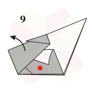 Pato de Origami - Pasos 9