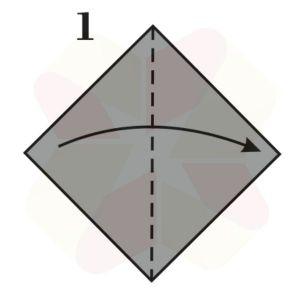 Pinguinito de Origami - Paso 1