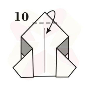 Pinguinito de Origami - Paso 10