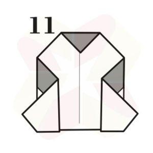 Pinguinito de Origami - Paso 11