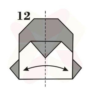 Pinguinito de Origami - Paso 12