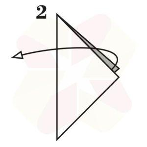 Pinguinito de Origami - Paso 2