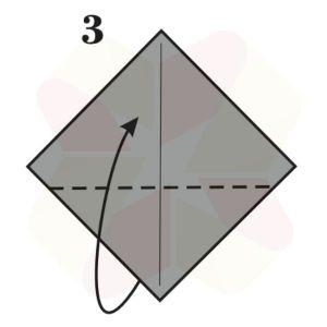 Pinguinito de Origami - Paso 3