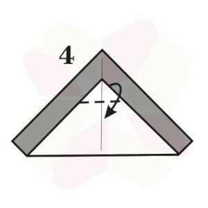 Pinguinito de Origami - Paso 4
