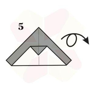 Pinguinito de Origami - Paso 5