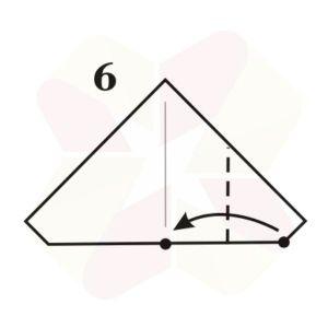 Pinguinito de Origami - Paso 6