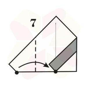 Pinguinito de Origami - Paso 7