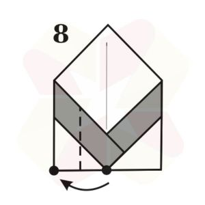 Pinguinito de Origami - Paso 8