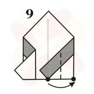 Pinguinito de Origami - Paso 9