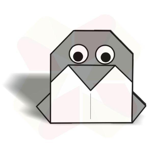 Pinguinito de Origami - Terminado