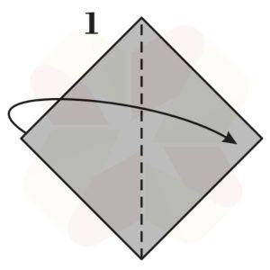 Pinguino de Origami - Paso 1