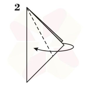 Pinguino de Origami - Paso 2