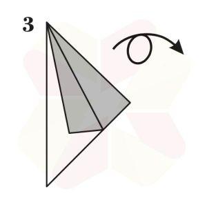 Pinguino de Origami - Paso 3