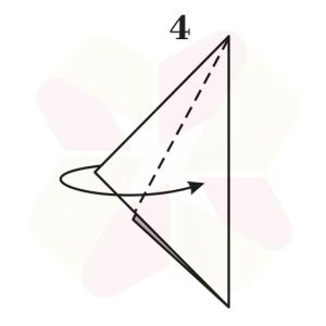 Pinguino de Origami - Paso 4