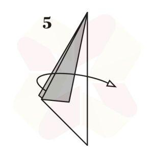 Pinguino de Origami - Paso 5