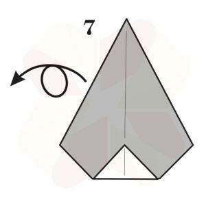 Pinguino de Origami - Paso 7