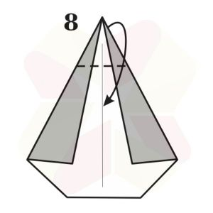 Pinguino de Origami - Paso 8
